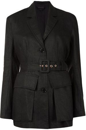 Karen Walker Women Blazers - Chamomile single-breasted linen blazer