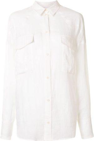 Karen Walker Women Shirts - Cedar pointed collar ramie shirt