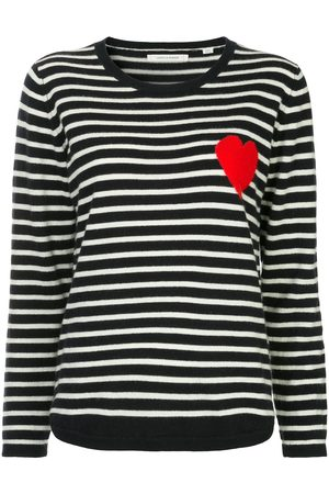 Chinti And Parker Striped heart sweater