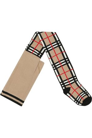 Burberry Check cotton-blend tights