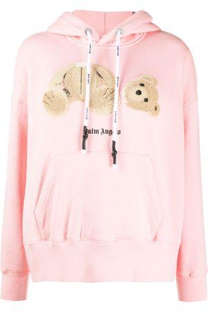Palm Angels Teddy motif hoodie