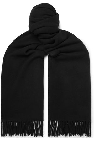 Acne Studios Men Scarves - Oversized Fringed Wool Scarf