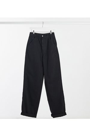 ASOS ASOS DESIGN Tall slouchy chino trousers in black
