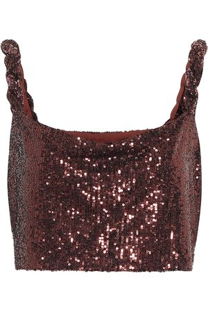 Balmain Sequined bralette