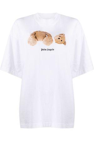 Palm Angels Women Short Sleeve - Teddy-bear print T-shirt