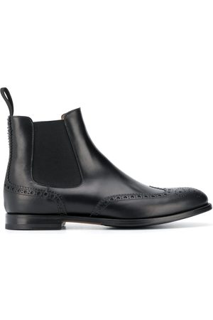 Scarosso Oliver brogue detailing boots