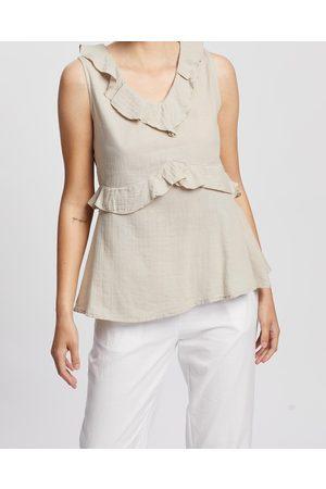 Kaja Clothing Women Tank Tops - Bree Top - Tops (Natural) Bree Top