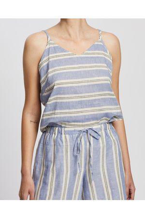 Kaja Clothing Women Tank Tops - Cleo Top - Tops ( Stripe) Cleo Top
