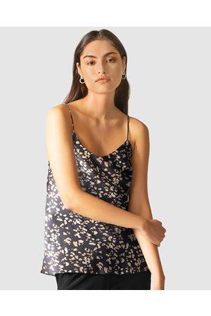 GINIA RTW Women Swimsuits - Leopard Eva Silk Cami - One-Piece / Swimsuit (Leopard Print) Leopard Eva Silk Cami