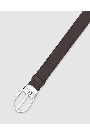 Mont Blanc Horseshoe Shiny Stainless Steel Pin Buckle Belt - Belts Horseshoe Shiny Stainless Steel Pin Buckle Belt