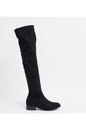 Public Desire Exclusive Elle over-the-knee boots in black