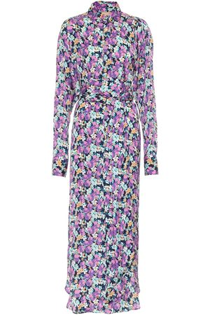 Plan C Floral crêpe de chine shirt dress