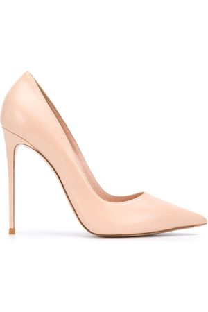 LE SILLA Pointed toe leather pumps