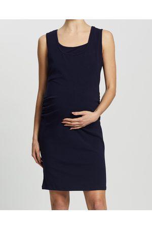Angel Maternity Maternity & Nursing Tank Dress - Bodycon Dresses (Navy) Maternity & Nursing Tank Dress