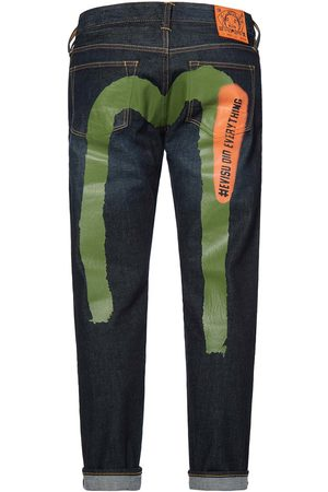 Evisu Brushstroke Daicock Printed 2023 Stretch Skinny-fit Cropped Jeans