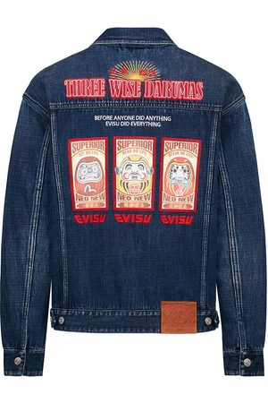 Evisu Three Wise Darumas Poster Denim Jacket