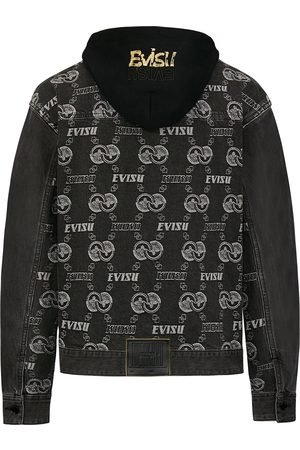 Evisu Jacquard Monogram Denim Jacket