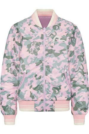 Evisu Allover Godhead Camouflage Printed Reversible Bomber Jacket