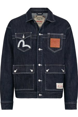 Evisu Banknote Appliquéd Loose Fit Denim Jacket