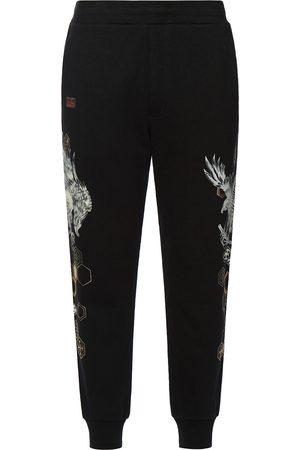 Evisu Taka with Kamon Pattern Print Sweatpants