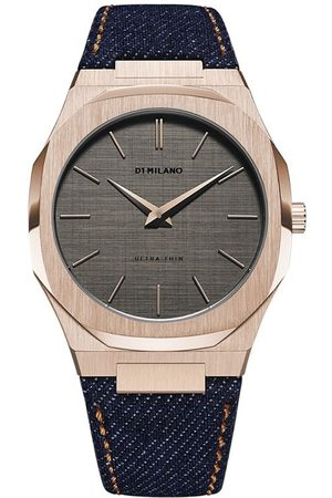 D1 MILANO Western Denim Ultra Thin 40mm watch
