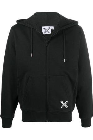 Kenzo Men Sweatshirts - Sport 'Little X' zipped hoodie