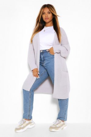 Boohoo Plus Boyfriend Knitted Cardigan