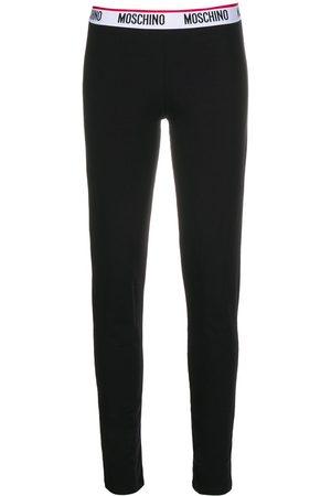 Moschino Women Leggings - Logo-tape leggings