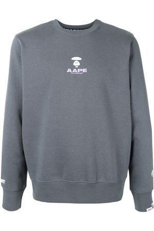AAPE BY A BATHING APE Men Sweatshirts - Logo print crewneck sweatshirt