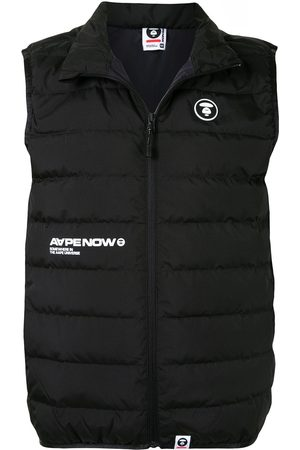AAPE BY A BATHING APE Men Gilets - Quilted logo patch gilet