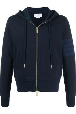 Thom Browne 4-Bar zip-up loopback-cotton hoodie
