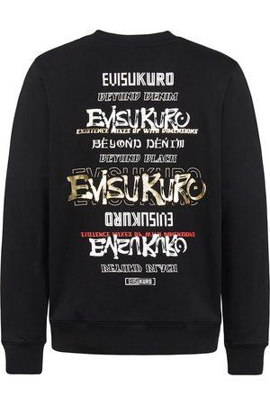 Evisu Multi Logo and Slogan Print Sweatshirt
