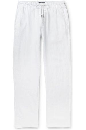 Vilebrequin Men Wide Leg Pants - Pacha Wide-Leg Linen Drawstring Trousers