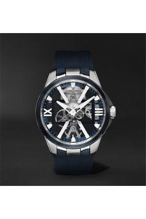 Ulysse Nardin Men Watches - Skeleton X Hand-Wound 42mm Titanium and Rubber Watch