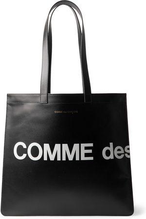 Comme des Garçons Men Tote Bags - Logo-Print Leather Tote Bag