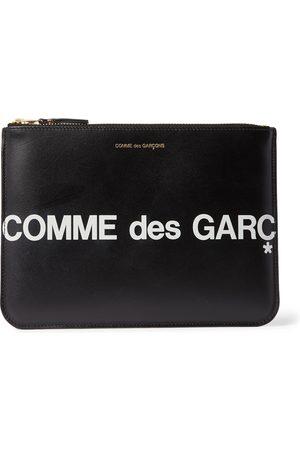 Comme des Garçons Men Wallets - Logo-Print Leather Pouch