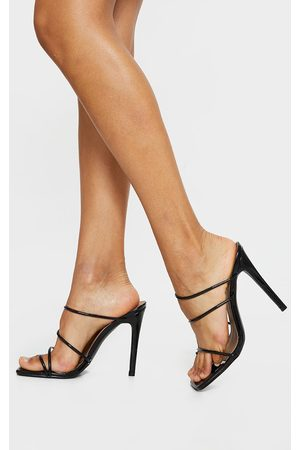 PRETTYLITTLETHING Wide Fit Toe Loop Strappy High Heeled Mules