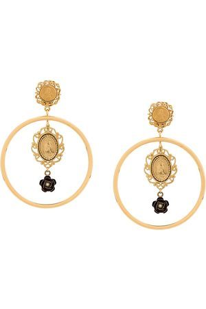Dolce & Gabbana Madonna medallion earrings
