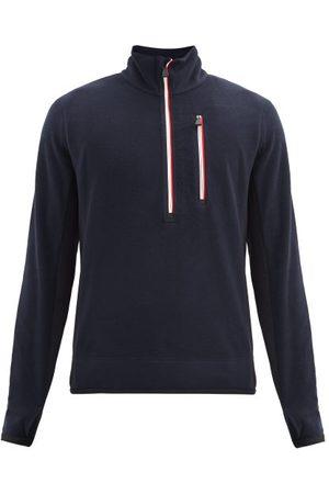 Moncler High-neck Technical-fleece Sweater - Mens - Dark Navy