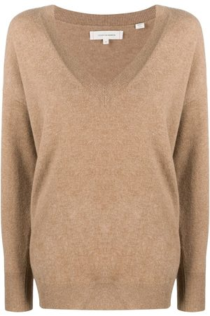 Chinti And Parker Plunging V-neck cashmere jumper