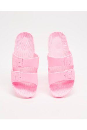 Freedom Moses Slides Unisex - Casual Shoes (Bubble Gum) Slides - Unisex