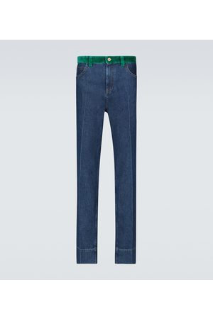 WALES BONNER Men Straight - Dub Contrast waistband jeans