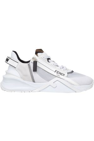 Fendi Nylon and suede low top