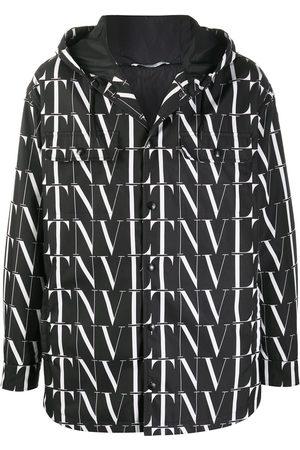 VALENTINO VLTN pattern hooded jacket