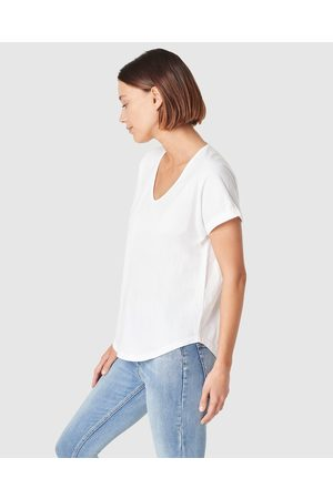 French Connection Organic Dipped Hem T Shirt - T-Shirts & Singlets Organic Dipped Hem T Shirt