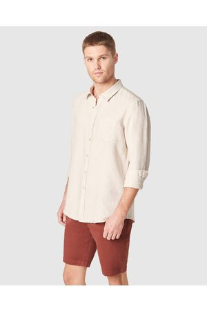 French Connection Linen Regular Fit Shirt - Casual shirts (OATMEAL MELANGE) Linen Regular Fit Shirt