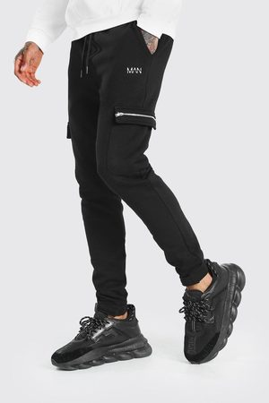 Boohoo Mens MAN Zip Detail Cargo Joggers With Adjustable Cuff