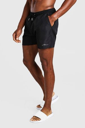 Boohoo Mens MAN Signature Mid Length Swim Short