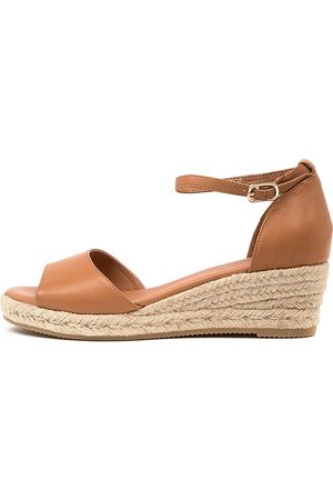 Django & Juliette Women Heeled Sandals - Skip Djl Dk Tan Natural Rope Sandals Womens Shoes Casual Heeled Sandals