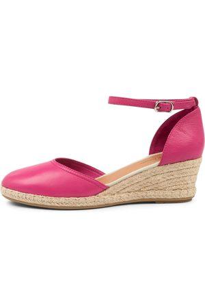 Django & Juliette Women Heels - Rylen Dj Fuchsia Natural Rope Shoes Womens Shoes Casual Heeled Shoes
